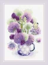 Purple Allium by RIOLIS - 1974